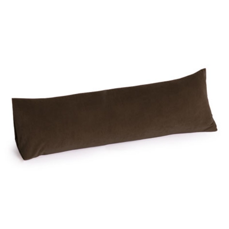 Computer Foot Rest: Memory Foam Body Pillow 30 inch Dark Chocolate