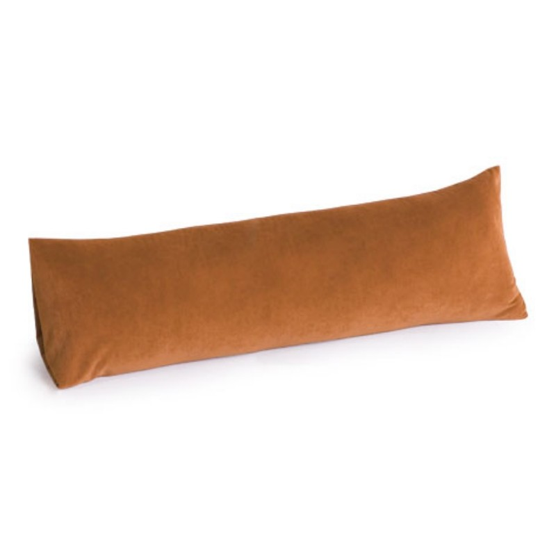 Armrest Bed Pillows: Memory Foam Body Pillow 30 inch Microfiber Tan