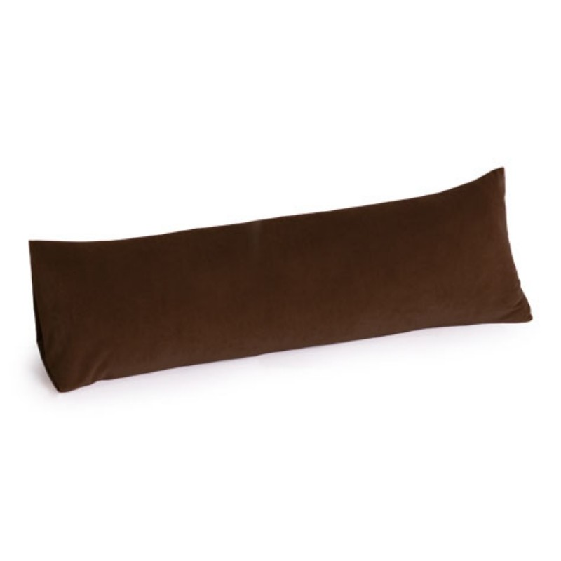 Memory Foam Body Pillow 30 inch Microsuede Chocolate