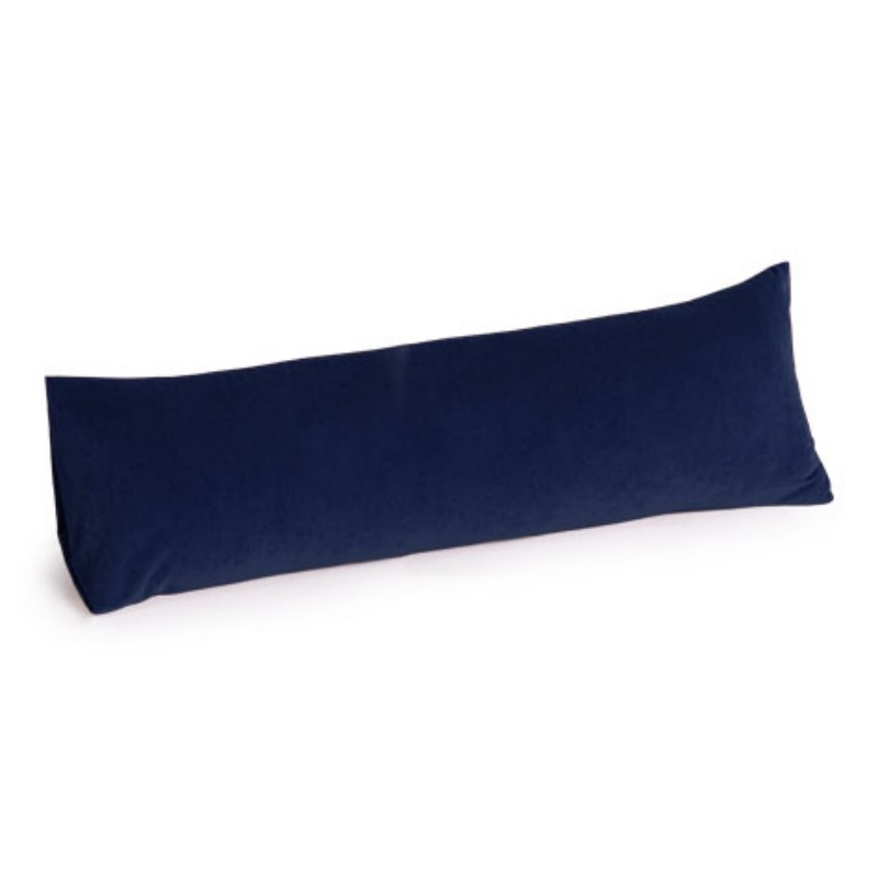 Armrest Bed Pillows: Memory Foam Body Pillow 30 inch Microsuede Navy Blue