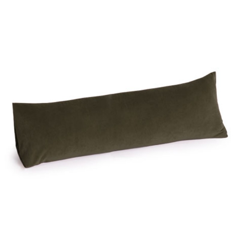 Memory Foam Body Pillow 30 inch Microsuede Olive