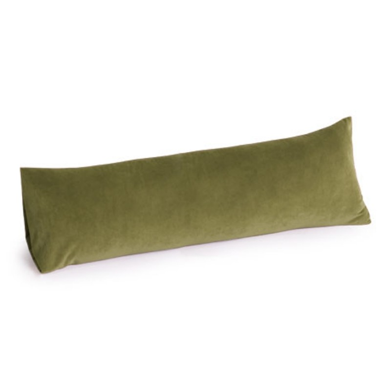 Lounge Pillow: Memory Foam Body Pillow 30 inch Microsuede Sage