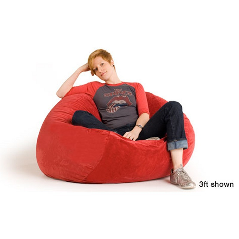 Blue Bean Bags: 3 Feet Sac Bean Bag Chair Microsuede