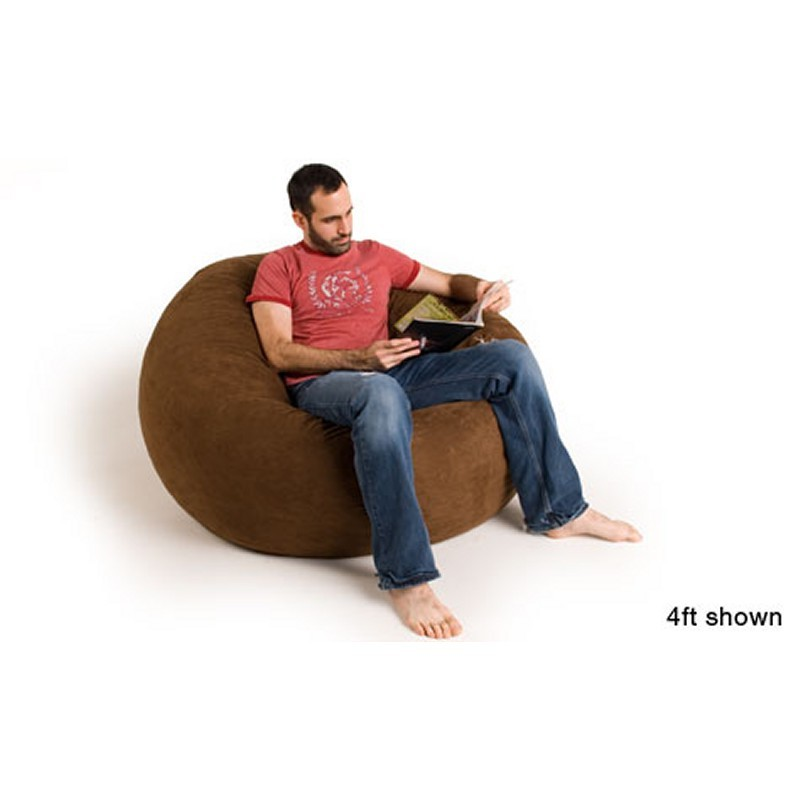 Red Bean Bags: 4 Feet Sac Bean Bag Chair Microsuede