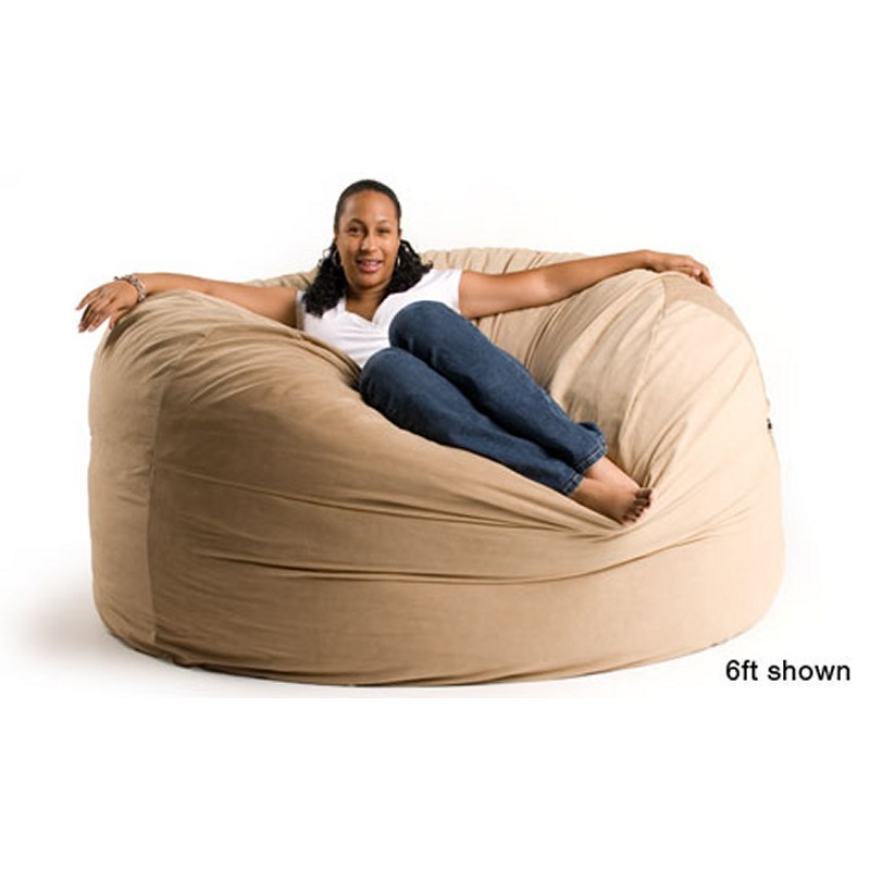 Red Bean Bags: Sac Bean Bag Couch 6 Feet Microsuede