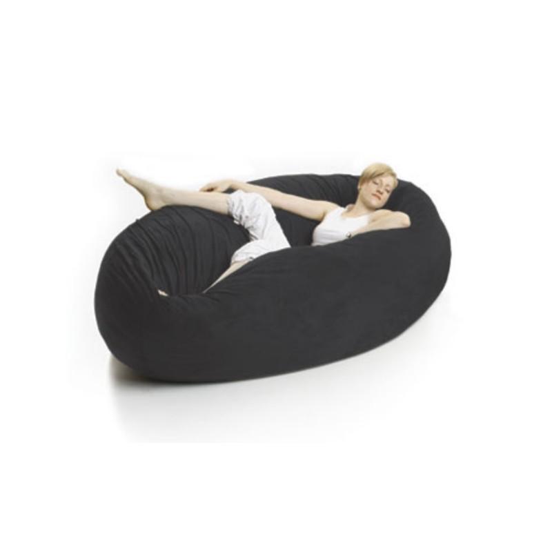 Zak Cocoon Bean Bag Chair Microsuede Black