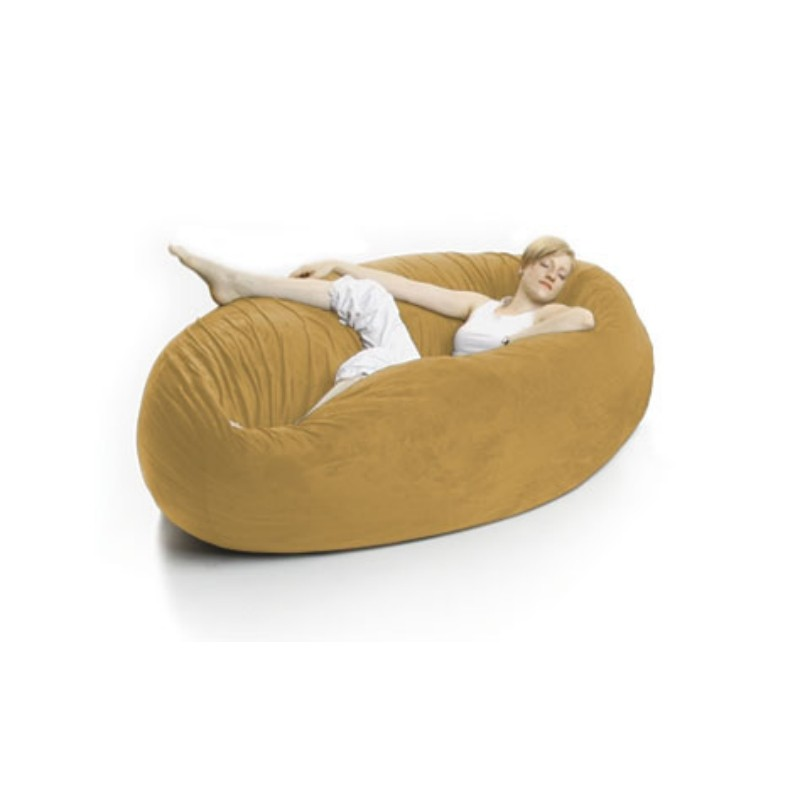 Zak Single Cocoon Bean Bag Bed Yellow