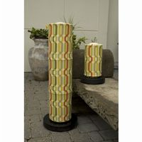 PatioGlo LED Floor Lamp, Bright White, New Twist Seaweed Fabric Cover PLC-64850