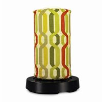 PatioGlo LED Table Lamp, Bright White, New Twist Seaweed Fabric Cover PLC-64800