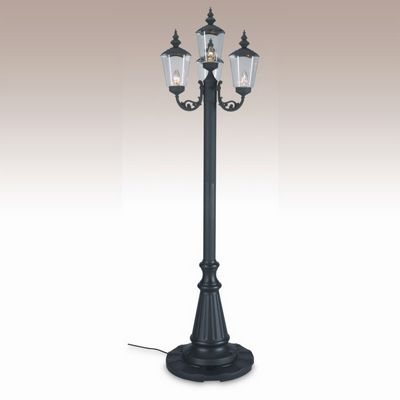 Cambridge Park Style Four Lantern Patio Lamp Black PLC-00440