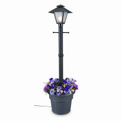 Cape Cod Lantern Portable Planter Patio Lamp Black PLC-66000