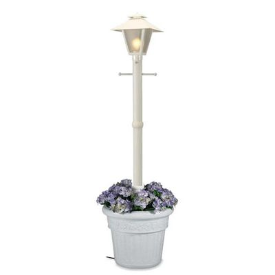 Cape Cod Lantern Portable Planter Patio Lamp White PLC-66001