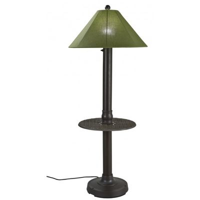Catalina Table Floor Lamp with Spectrum Cilantro & Bronze PLC-65697