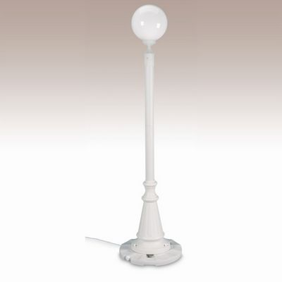 European Globe Portable Patio Lamp White Globe White PLC-00331