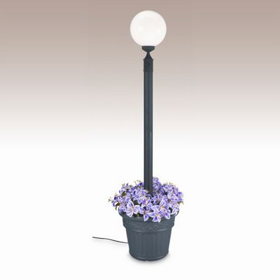 European Globe Portable Planter Patio Lamp Black PLC-00380