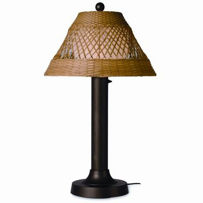 Java Outdoor Table Lamp 34 x 3 inches Honey Wicker PLC-16257