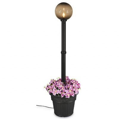 Milano Globe Portable Planter Patio Lamp Black/Bronze PLC-68000