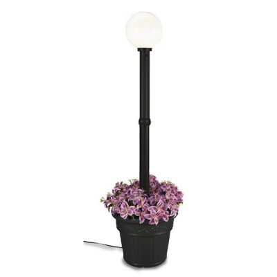 Milano Globe Portable Planter Patio Lamp Black/White PLC-68100
