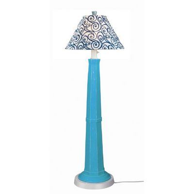 Nantucket Outdoor Floor Lamp Curacao Blue PLC-71909