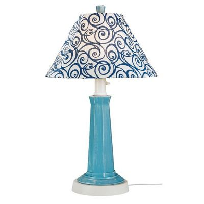 Nantucket Outdoor Table Lamp Curacao Blue PLC-00905