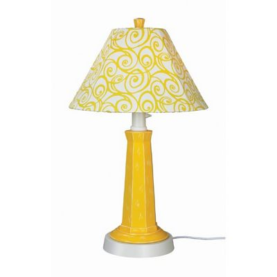 Nantucket Outdoor Table Lamp Lemon Mimosa PLC-00912