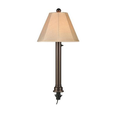 Outdoor Wicker Umbrella Table Lamp Bronze PLC-20777