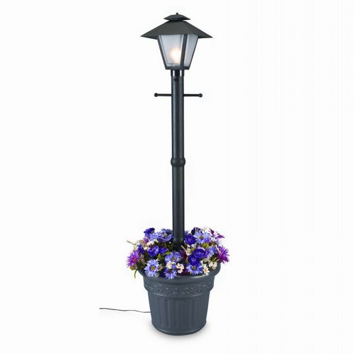 Cape Cod Lantern Portable Planter Patio Lamp Black PLC-66000-BL