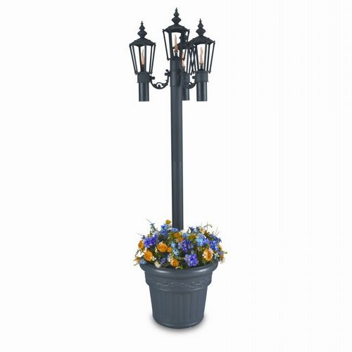 Islander Citronella Flame Torch Planter 4 Lamps PLC-00560-BL