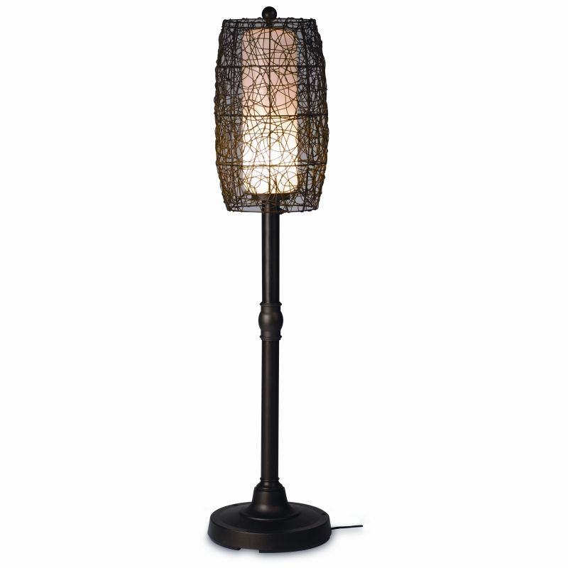 Free Standing Solar Patio Lanterns: Bristol 58 inch Floor Outdoor Patio Lamp