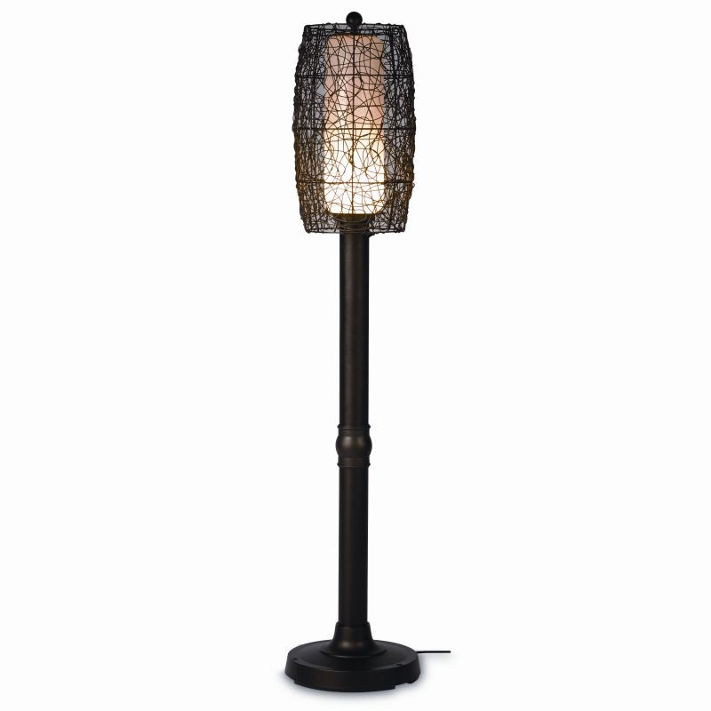 Free Standing Solar Patio Lanterns: Bristol 70 inch Floor Outdoor Patio Lamp