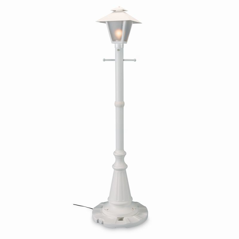 Lighting Post Base: Cape Cod Lantern Portable Pole Lamp White