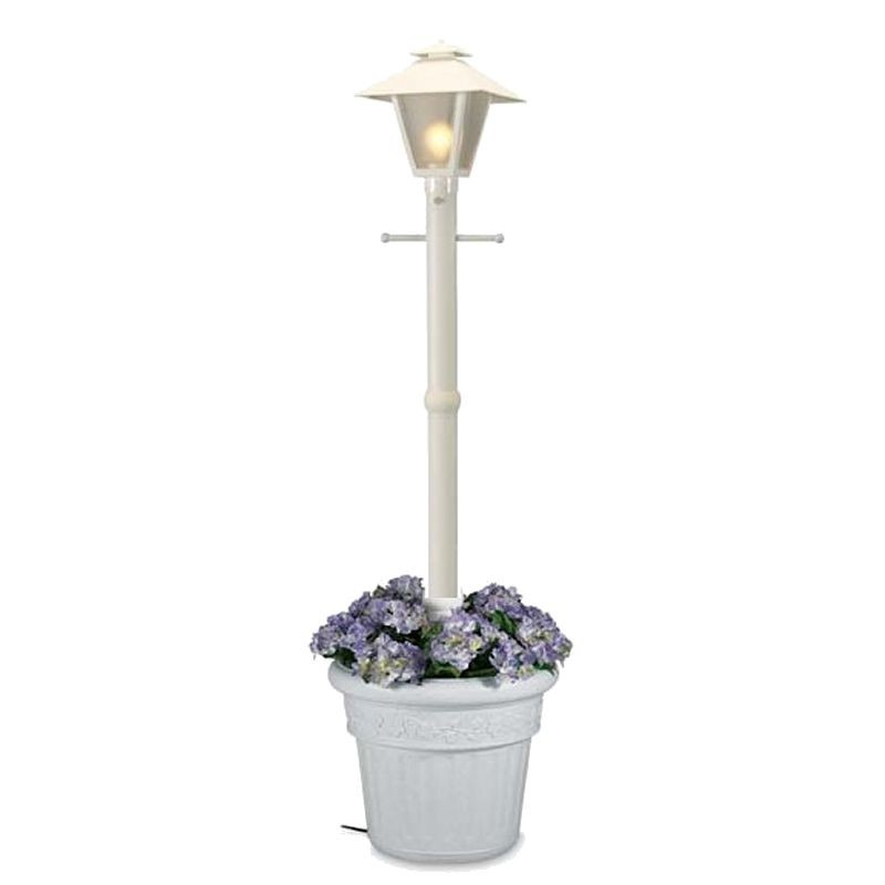 Cape Cod Lantern Portable Planter Patio Lamp White