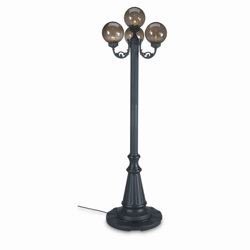 European 4 Globe Portable Patio Lamp Bronze Globes