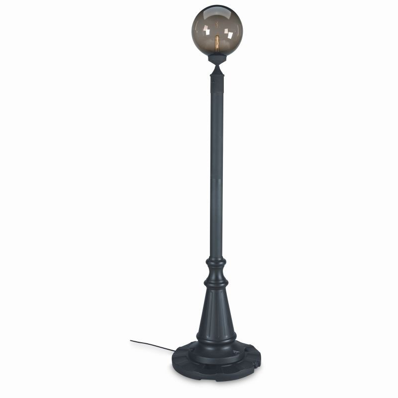 Post Mount Light Fixtures in Riverside California: European Globe Portable Post Lamp Bronze Globe