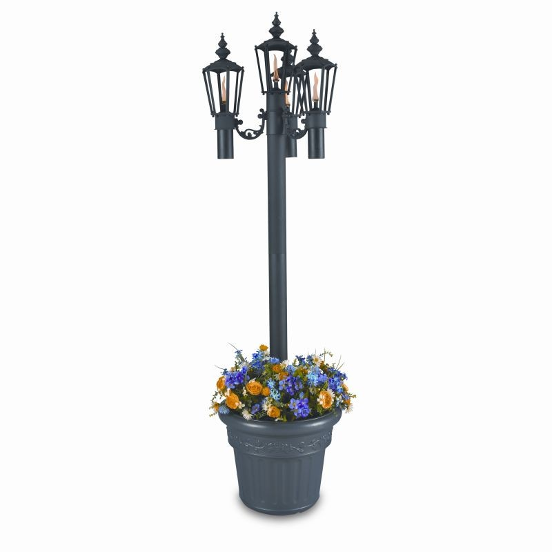 Street Lamp Post Prop: Islander Citronella Torch Lighting Planter with 4 Lamps
