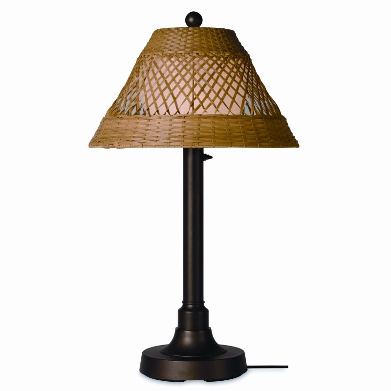 Java Outdoor Table Lamp 34 2 Inches Honey Wicker