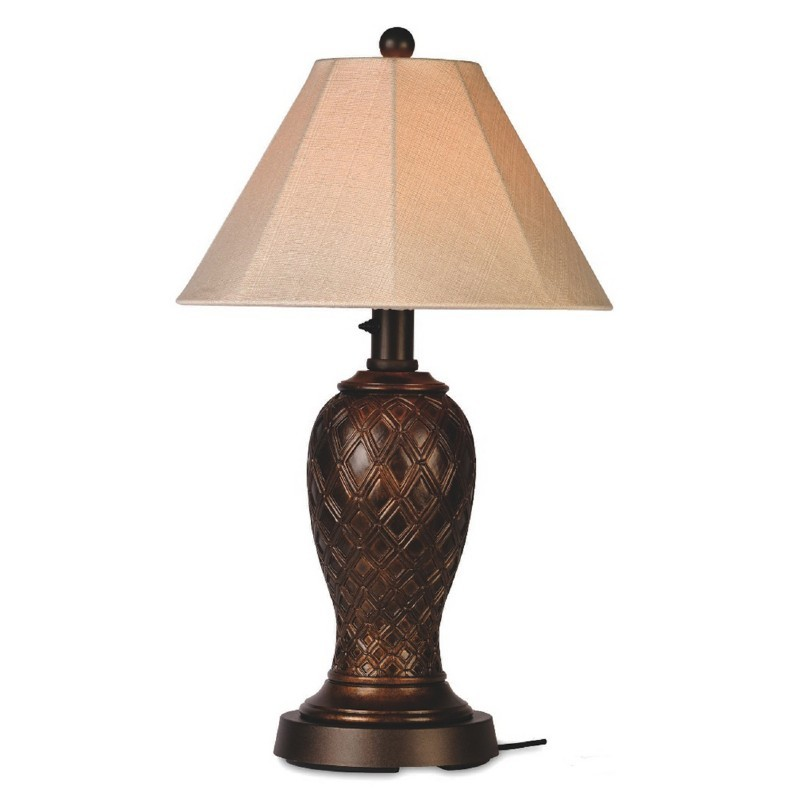 Lighting: Outdoor Table Lamps: Monterey Outdoor Table Shade Lamp Bronze