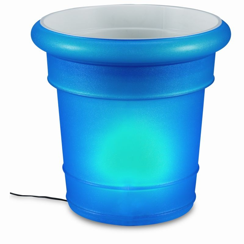 GardenGlo Electric Garden Planter Lamp Blue