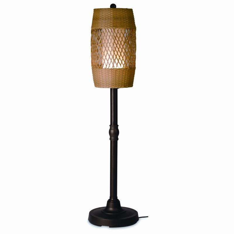 Free Standing Solar Patio Lanterns: Tonga 58 inch Freestanding Outdoor Lamp