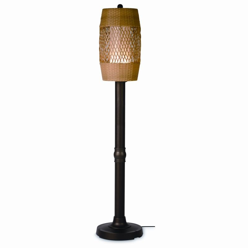 Free Standing Solar Patio Lanterns: Tonga 70 inch Freestanding Outdoor Lamp