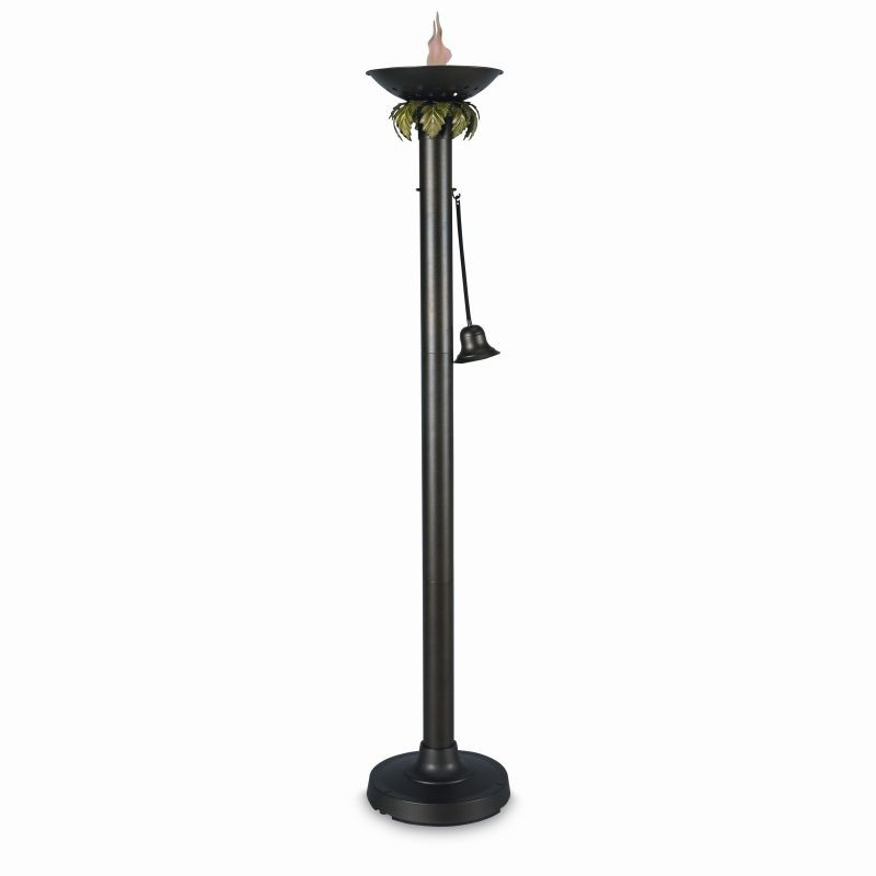 Free Standing Solar Patio Lanterns: Vesta Citronella Flame Torch Light 72 inch tall