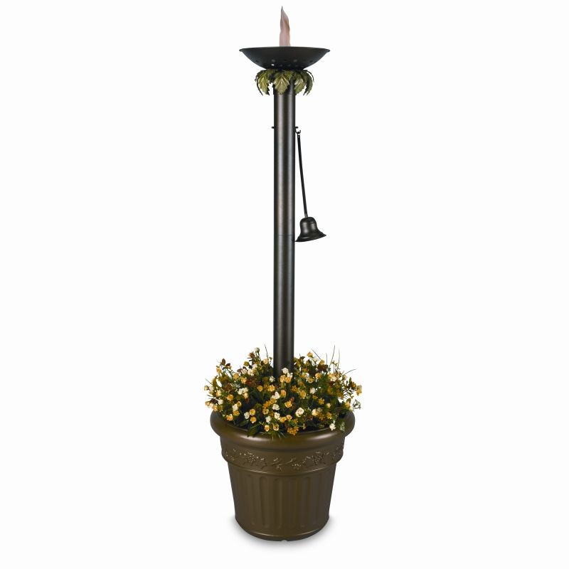 Oil Lamp Wick Lamps: Vesta Citronella Flame Torch Light with Planter 72 inch tall