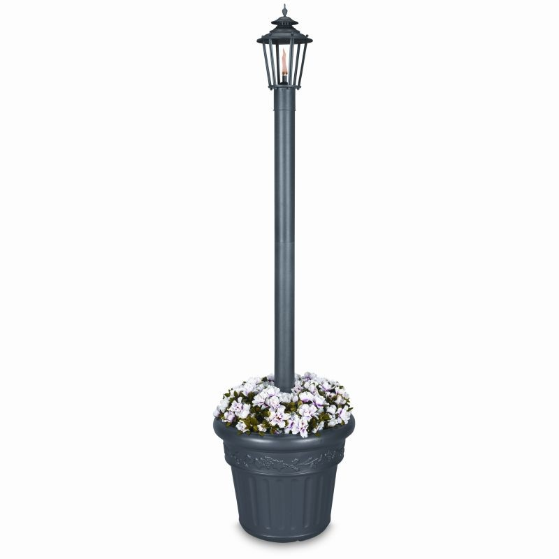 Williamsburg Citronella Flame Torch Planter Black : Outdoor Torches