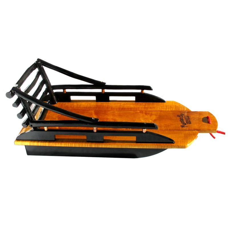 Winter Tubes for Sledding: Bambino Superior Wooden Pull Sled Large