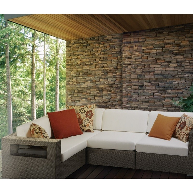 10Tierra Wicker Patio Club Sectional Set 4 Piece