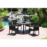 Dijon Modern Patio Dining Set 5 Piece CA-DJ-5DS