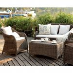 Amelie Traditional Wicker Club Seating Set 4 Piece CA-989-SET4