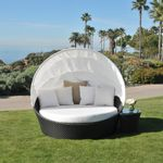 Dijon Barrell Outdoor Daybed with Canopy