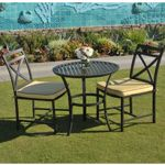 San Michelle Cast Aluminum Bistro Set 3 Piece