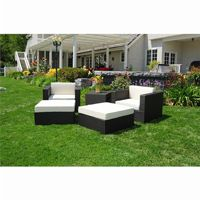 Dijon Modern Patio Club Deep Seating Set 5 Piece CA-DJ-825-SET5